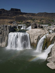 Vertical of Shoshone Falls Park, Snake River Canyon, Twin Falls County, near Twin Falls, Idaho.