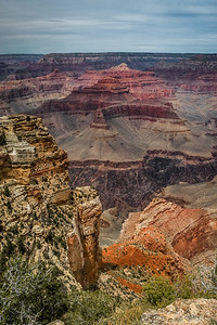 Grand Canyon as seen from just off the Rim Trail on the South Rim.