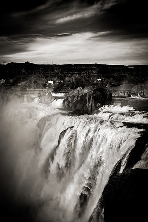 Soshone Falls, a few hours outside of Boise