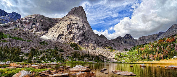 Wyoming landscape. Cirque of the Towers.