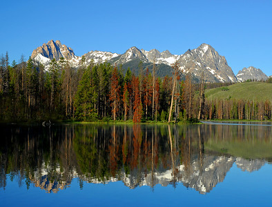Little Redfish Lake Idaho, Sawtooth Wilderness. Photo by Mike Reid, All Outdoor Photography.