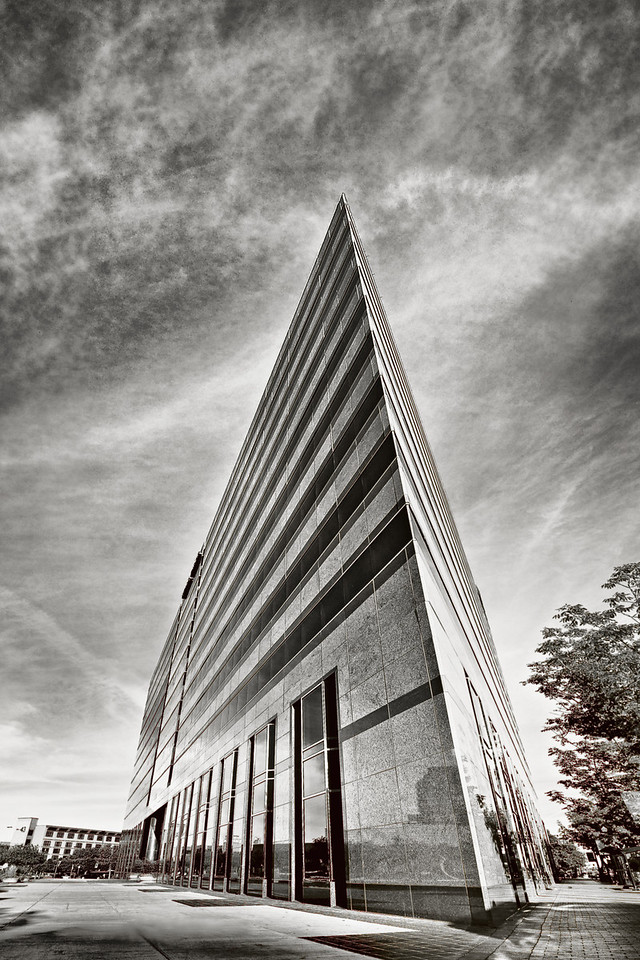 Wells Fargo Building at Boise Centre on the Grove, downtown Boise Idaho. Photo by Mike Reid, All Outdoor Photography.