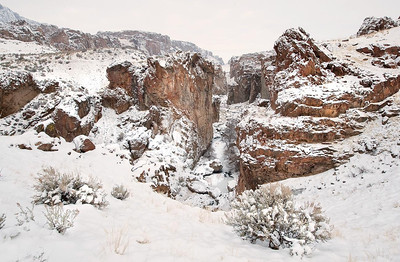 Succor Creek Oregon, in winter.