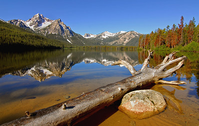 Stanley Lake, Idaho Sawtooth Mountains Wilderness. Photo by Mike Reid, All Outdoor Photography Boise.