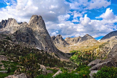 Wind River Mountains, Wyoming. Cirque of the Towers and Pingora.