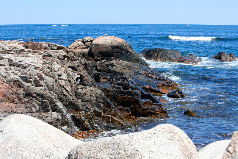 Rocks off Ocean Ave in Kennebunkporrt, Maine