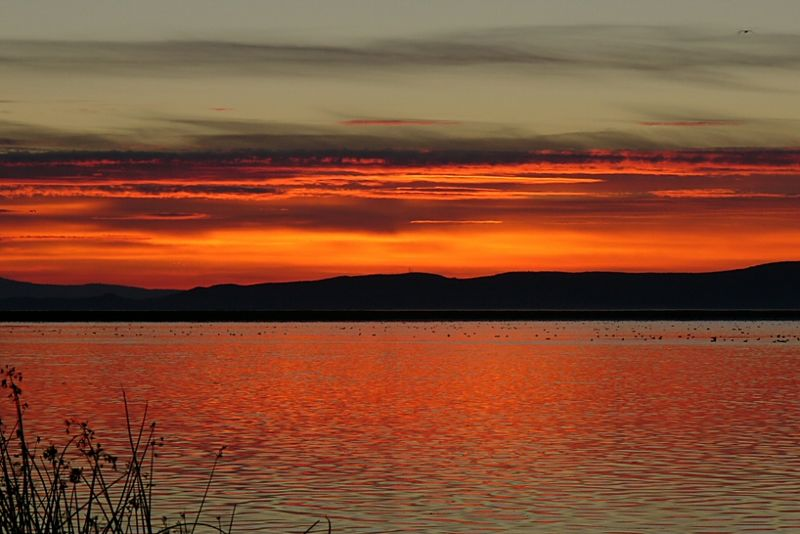 Sunrise at Tule Lake Nat'l Wildlife Refuge  on the California/Oregon border.