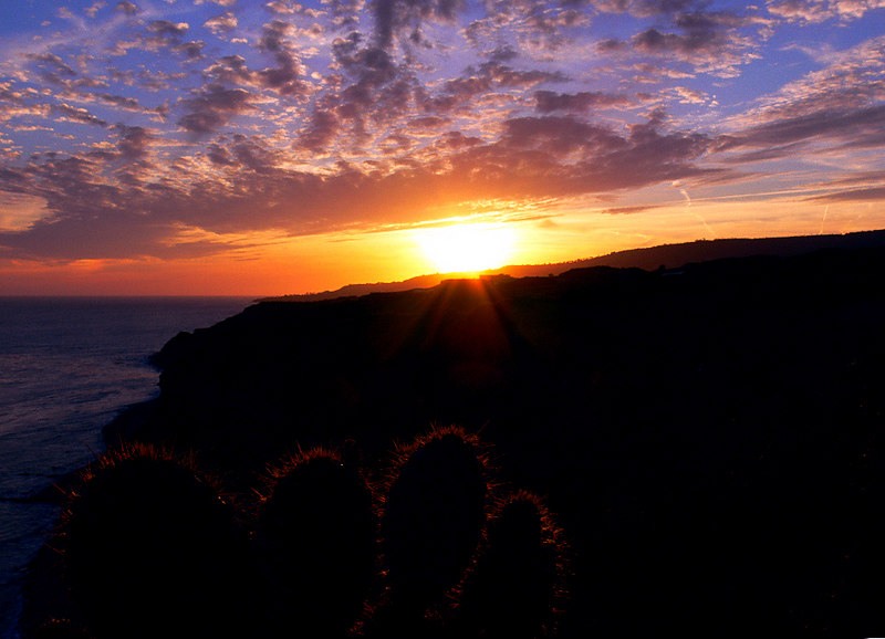 Southern California Sunset, Palos Verdes Peninsula, CA, May 29 2006.