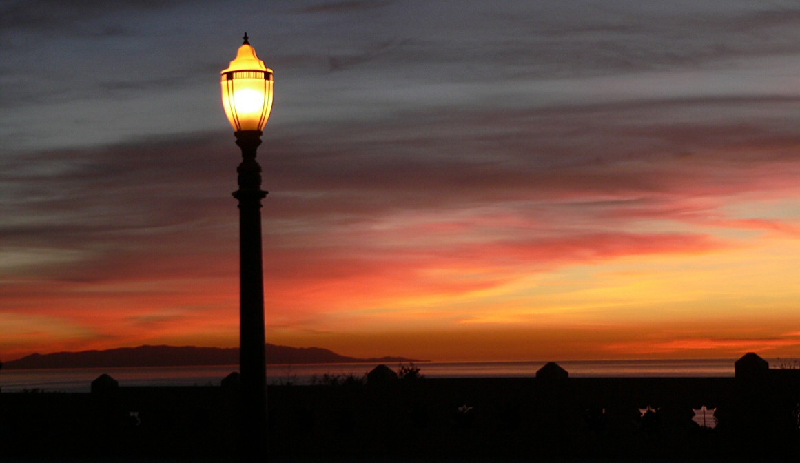 Sunset at Pt Fermin with Catalina Island in the distance, January 18, 2005