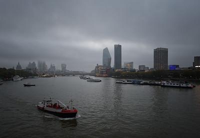 View from Waterloo Bridge, October