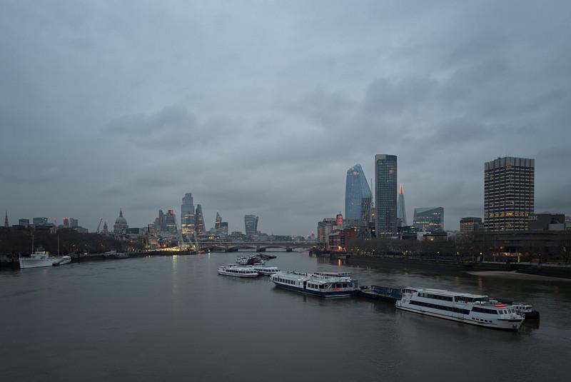 View from Waterloo Bridge, December