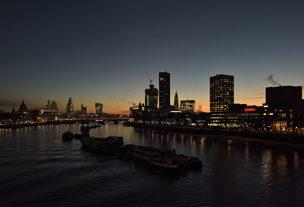 View from Waterloo Bridge, November