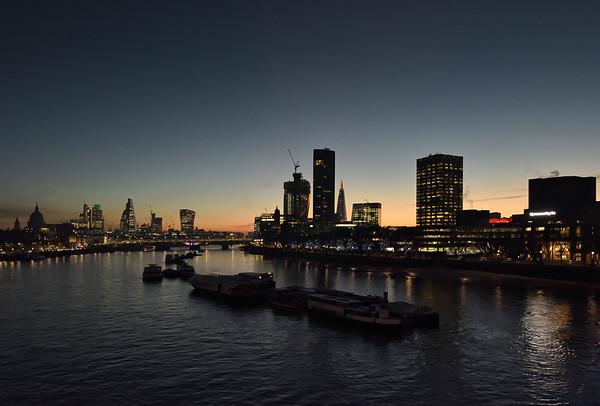 View from Waterloo Bridge, November