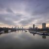 View from Waterloo Bridge, February
