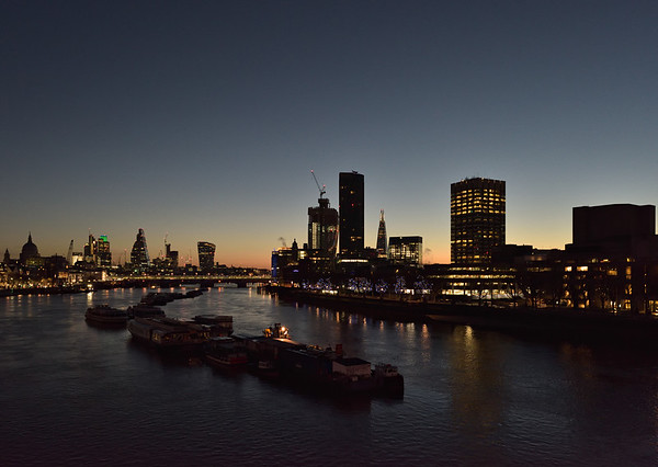 View from Waterloo Bridge, December