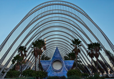 L'Umbracle at Ciudad de las Artes y las Ciencias (City of Arts and Sciences)  Valencia, Spain