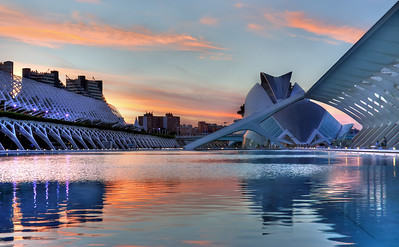 Ciudad de las Artes y las Ciencias (City of Arts and Sciences) Valencia, Spain