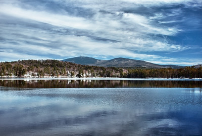 View of Mount Kearsarge over Kezar Lake