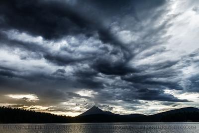 Stormy Mount McLoughlin