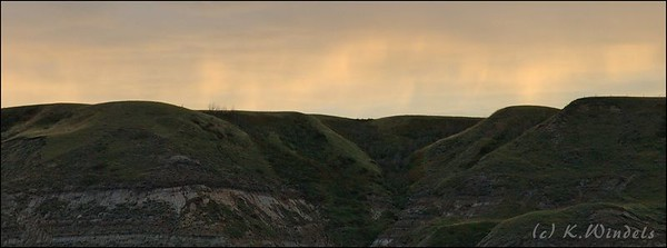 Looking out from the Hoodoos at sunset. Drumheller, AB.