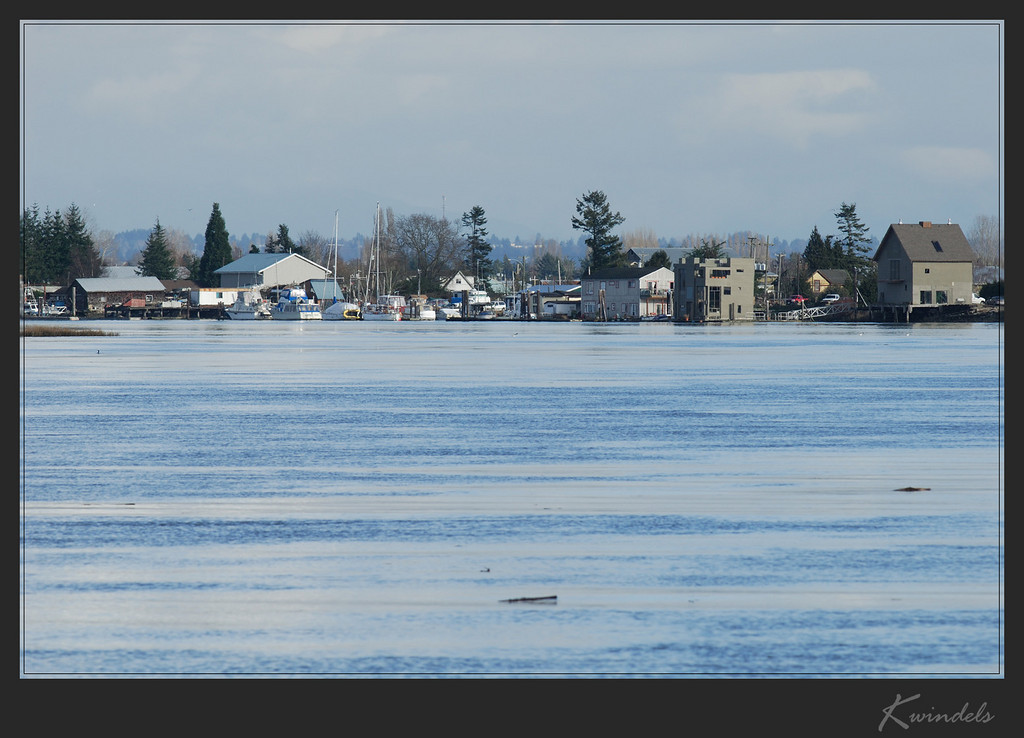 Looking back towards Ladner.