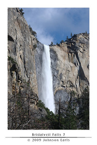 Bridalveil Falls 7  Bridalveil Falls, as seen from one of the pull-outs on the Southside Drive coming into the valley floor.  Even from here, farther away than even the Bridalveil Falls parking lot, you could still hear the roar of the falls.  Yosemite Valley, 28 April 2009.