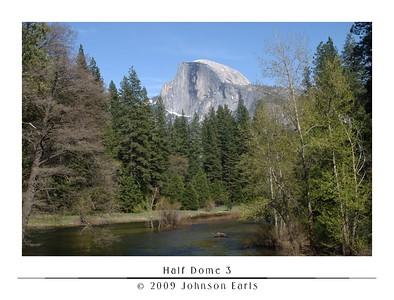 Half Dome 3  Half Dome, as seen from Sentinal Bridge in Yosemite Village.  Yosemite Valley, 29 April 2009.