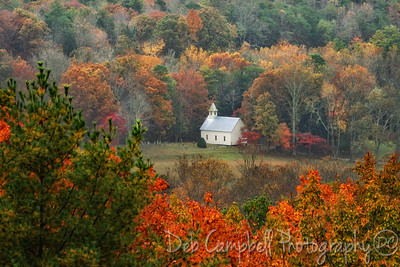 Methodist Church in Fall