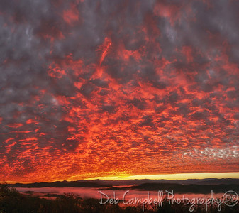Autumn Sunrise vertical pano