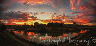Downtown Maryville Sunrise Pano