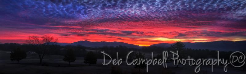 Foothills Sunrise Panorama