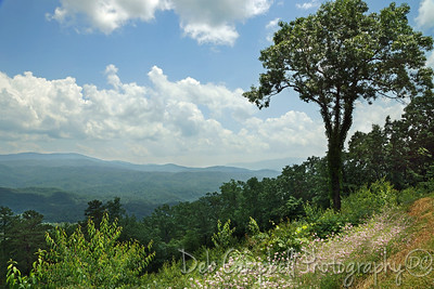 View of the Great Smoky Mountains from Foothills Parkway West Blount County, Tennessee