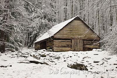 Bud Ogle Barn Roaring Fork Motor Nature Trail Great Smoky Mountains