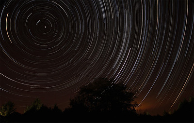 Star Trails over the Dordogne