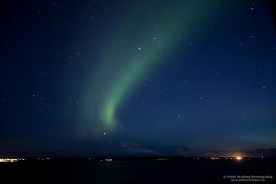 Northern Lights over Eyjafjörður, Iceland