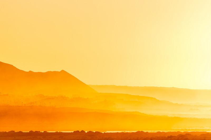 Golden mountains, Lanzarote