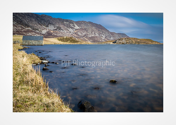 By the edge of the smaller of the Cregennan Lakes