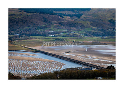 Barmouth Bridge over the Mawddach Estuary