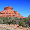 Bell Rock is located in the Red Rock formations near Sedona, Arizona.
