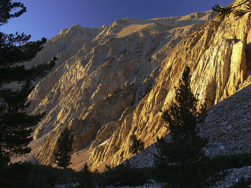 Sierra Gold --- early-morning sun of the walls of Taboose Canyon.