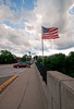 Looking west on Main St. bridge, Kent, OH, 6/20/2010.