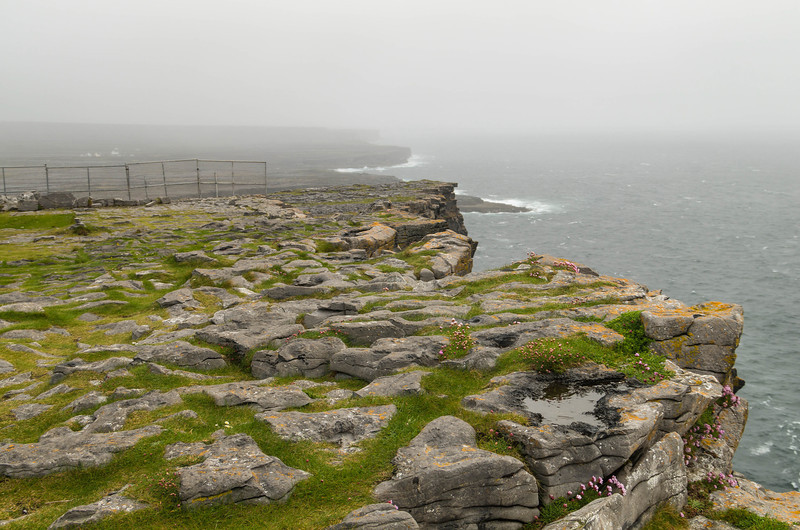 view from Dún Aonghasa, INIS MÓR (INISHMORE)