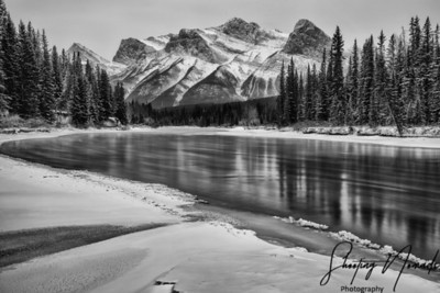 The Three Sisters at Bow River