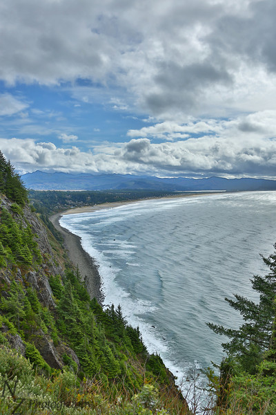 Ocean overlook near Manazanita, Oregon.