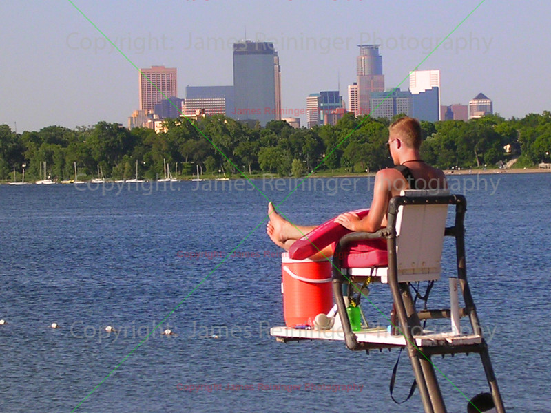 Lifeguard on Lake Calhoun