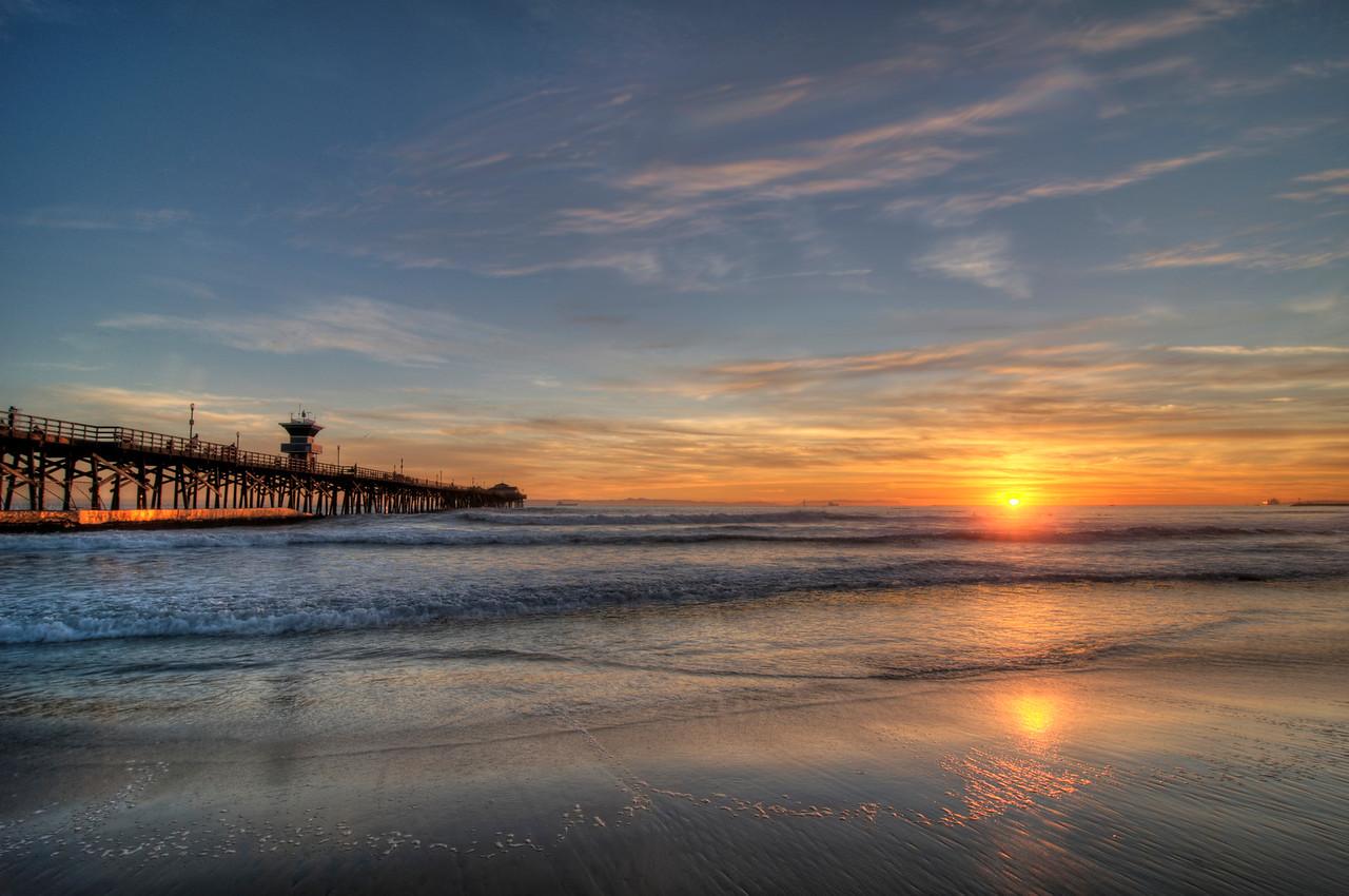 Sunset, Seal Beach Pier