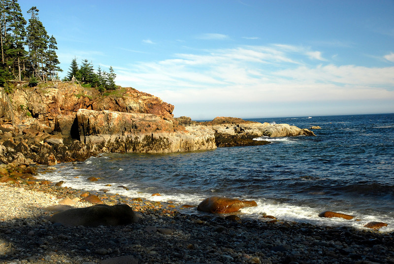 Seashore on the rocky coast of Acadia National Park.