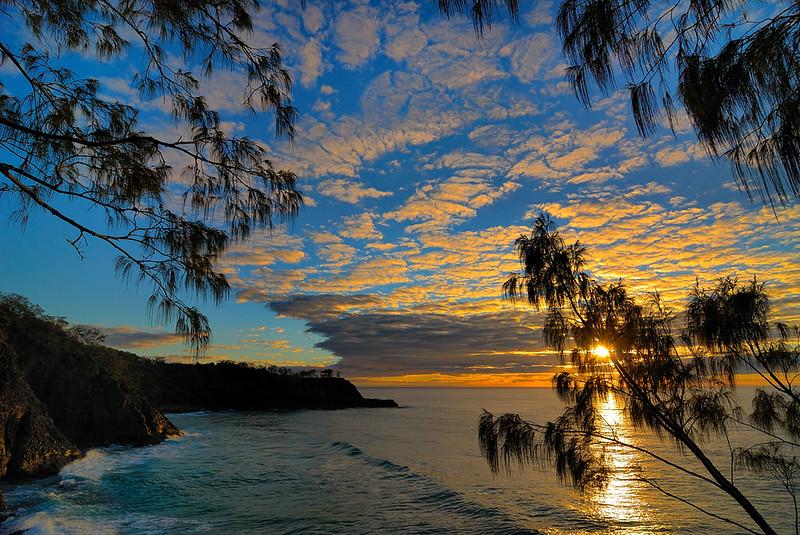 Noosa National Park, sunrise.
