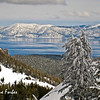 Snowy Lake Tahoe<br /> Snowy mountains around Lake Tahoe from Alpine Meadows, California