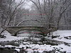 Minnehaha Creek Bridge in Snow